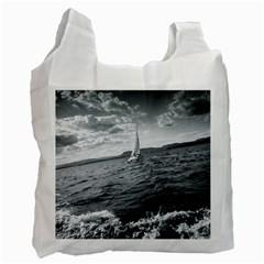 sailing Single-sided Reusable Shopping Bag