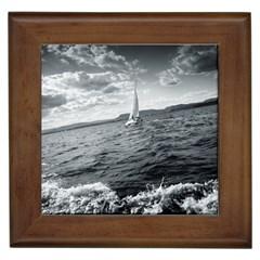 Sailing Framed Ceramic Tile