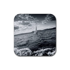 Sailing 4 Pack Rubber Drinks Coaster (square)