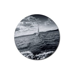 Sailing 4 Pack Rubber Drinks Coaster (round)