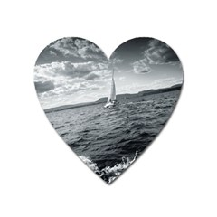 Sailing Large Sticker Magnet (heart)