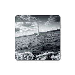 sailing Large Sticker Magnet (Square)