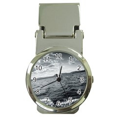 Sailing Chrome Money Clip With Watch