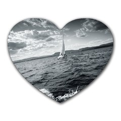Sailing Mouse Pad (heart)