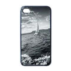 Sailing Black Apple Iphone 4 Case