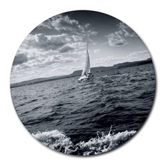 sailing 8  Mouse Pad (Round)
