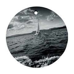 sailing Ceramic Ornament (Round)