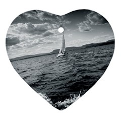 sailing Heart Ornament (Two Sides)