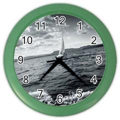 sailing Colored Wall Clock