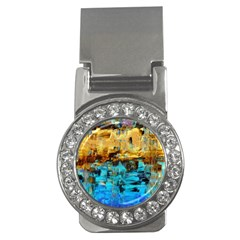 Echos Of Silence1a Money Clip With Gemstones (round)