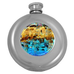 Echos Of Silence1a Hip Flask (Round)