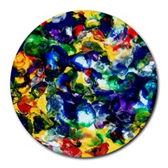 Colors 8  Mouse Pad (round)
