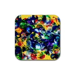 Colors Rubber Drinks Coaster (Square)