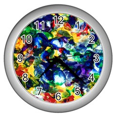 Colors Silver Wall Clock