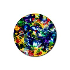 Colors Rubber Drinks Coaster (Round)