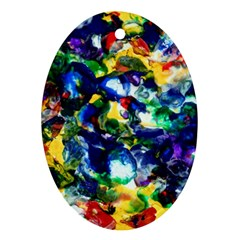 Colors Oval Ornament (Two Sides)