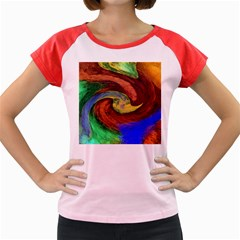 Culture Mix Colored Cap Sleeve Raglan Womens  T Shirt