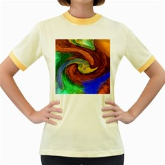 Culture Mix Colored Ringer Womens  T-shirt