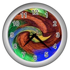 Culture Mix Silver Wall Clock