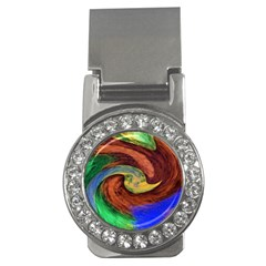 Culture Mix Money Clip with Gemstones (Round)