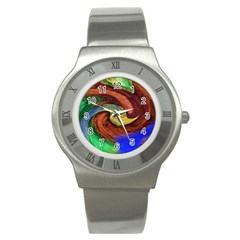 Culture Mix Stainless Steel Watch (Round)