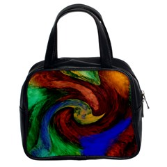 Culture Mix Twin-sided Satchel Handbag