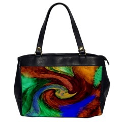 Culture Mix Single-sided Oversized Handbag