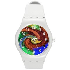 Culture Mix Round Plastic Sport Watch Medium
