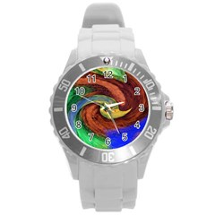 Culture Mix Round Plastic Sport Watch Large