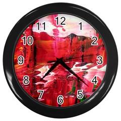 Decisions Black Wall Clock