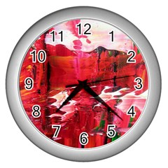 Decisions Silver Wall Clock