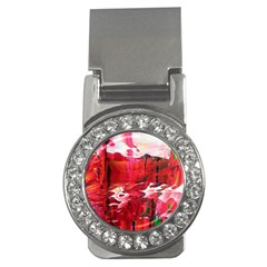 Decisions Money Clip With Gemstones (round)