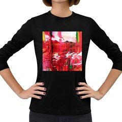 Decisions Dark Colored Long Sleeve Womens'' T Shirt