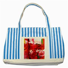Decisions Blue Striped Tote Bag