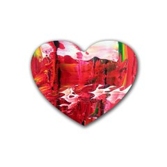 Decisions 4 Pack Rubber Drinks Coaster (Heart)