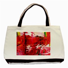 Decisions Twin-sided Black Tote Bag
