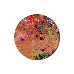 Diversity 4 Pack Rubber Drinks Coaster (Round)