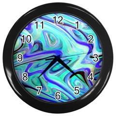 Easy Listening Black Wall Clock