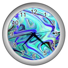 Easy Listening Silver Wall Clock