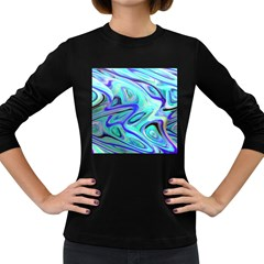 Easy Listening Dark Colored Long Sleeve Womens'' T Shirt