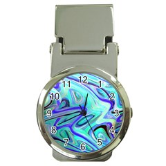 Easy Listening Chrome Money Clip with Watch