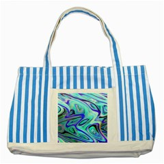 Easy Listening Blue Striped Tote Bag