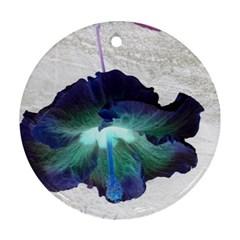 Exotic Hybiscus   Ceramic Ornament (Round)