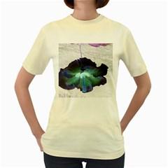 Exotic Hybiscus   Yellow Womens  T-shirt