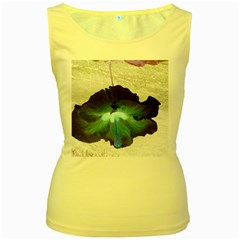 Exotic Hybiscus   Yellow Womens  Tank Top