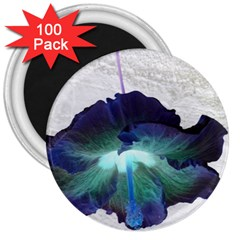 Exotic Hybiscus   100 Pack Large Magnet (Round)