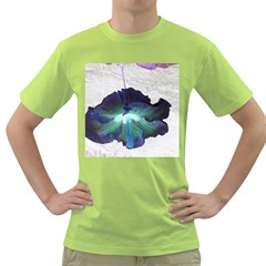 Exotic Hybiscus   Green Mens  T Shirt