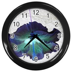 Exotic Hybiscus   Black Wall Clock