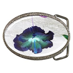 Exotic Hybiscus   Belt Buckle (Oval)