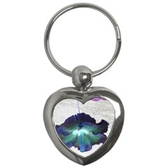 Exotic Hybiscus   Key Chain (Heart)
